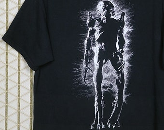Pumpkinhead horror movie T-shirt, faded black, vintage rare horror movie, Tales From The Crypt, Halloween, Nightmare on Elm Street