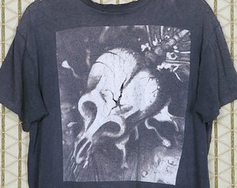 Skinny Puppy, Too Dark Park, vintage rare T-shirt, faded black tee shirt, Ohgr, cEvin Key