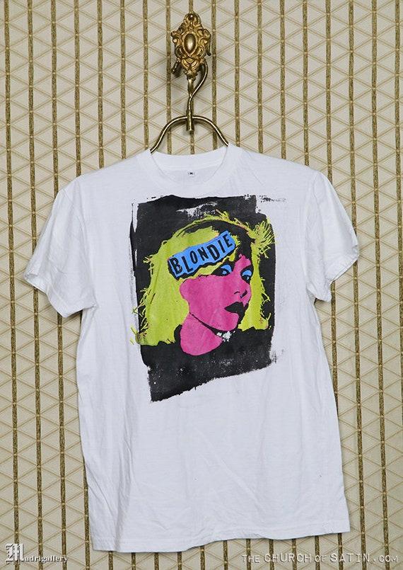 Blondie T-shirt, Debbie Deborah Harry, white tee s