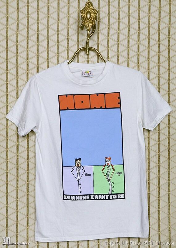 Talking Heads t-shirt, vintage rare white tee shir