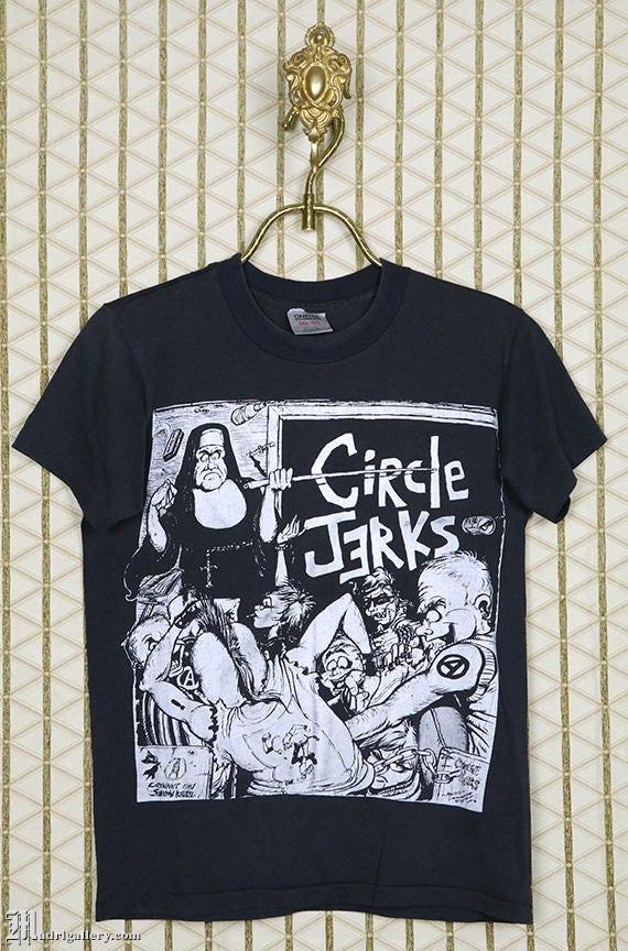 Circle Jerks vintage & rare T-shirt, black tee shi