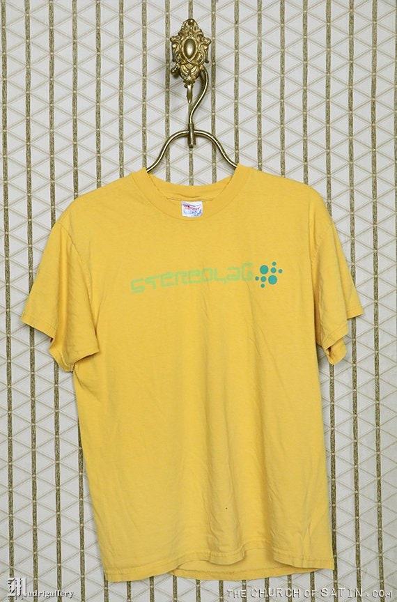 Stereolab t-shirt, vintage rare tee shirt, faded y