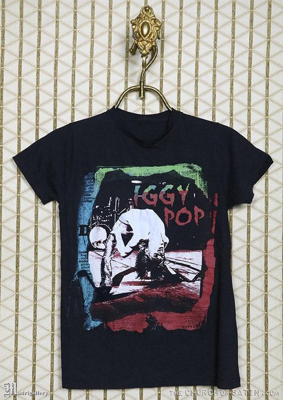 Iggy Pop t-shirt, vintage rare tee shirt, Stooges,