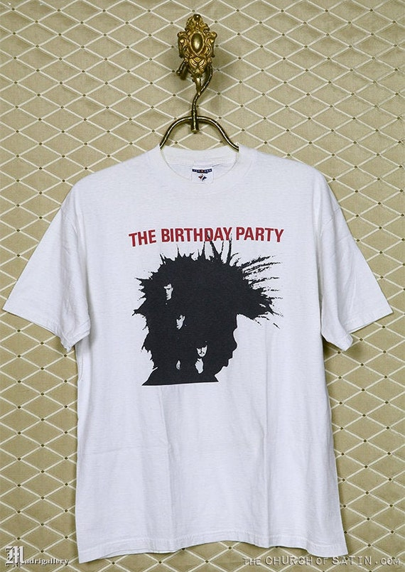 Birthday Party Nick Cave t-shirt, vintage rare whi