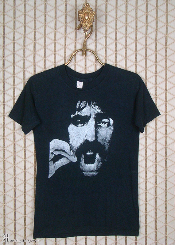 Frank Zappa t-shirt, vintage rare, soft thin faded