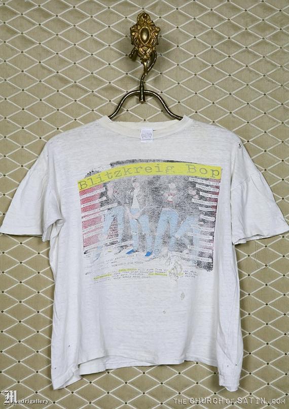 The Ramones, t-shirt, Blitzkreig Bop vintage tee s
