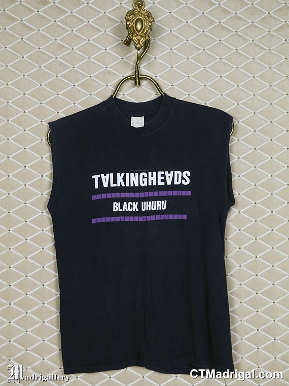 Talking Heads tour shirt 1982 vintage rare t, Davi