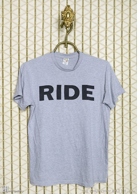 Ride t-shirt, heather gray shoegaze tee shirt, Lus