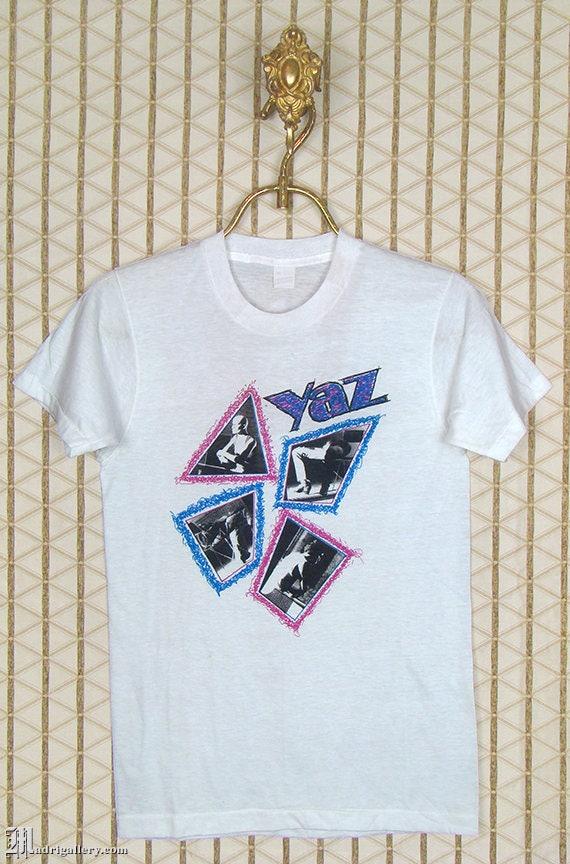 80s Tops, Shirts, T-shirts, Blouse   90s T-shirts Yaz, Yazoo, Vintage Rare T-Shirt, Upstairs At Erics, Soft Thin Screen Stars Tee Shirt, 1980S New Wave, Erasure, Depeche Mode, Alison Moyet $439.00 AT vintagedancer.com