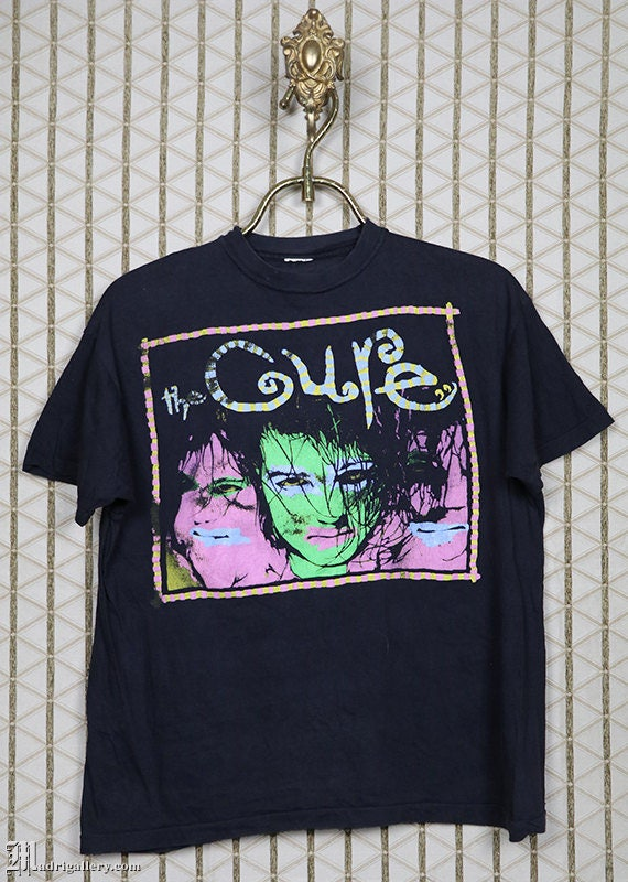 The Cure vintage rare T-shirt, black tee shirt, Ro