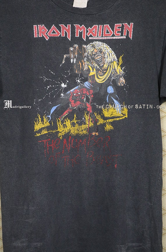 Iron Maiden shirt, 1983 Number Of The Beast t-shi… - image 2