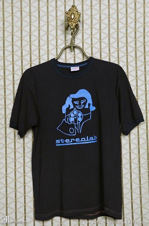 Stereolab t-shirt, vintage rare tee shirt, black b