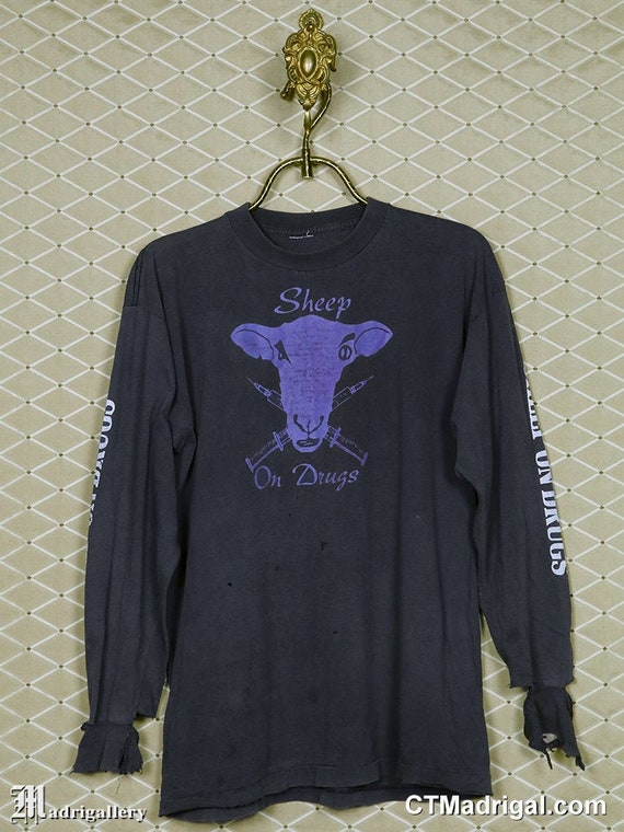 Sheep on Drugs shirt, vintage rare long sleeve T-s