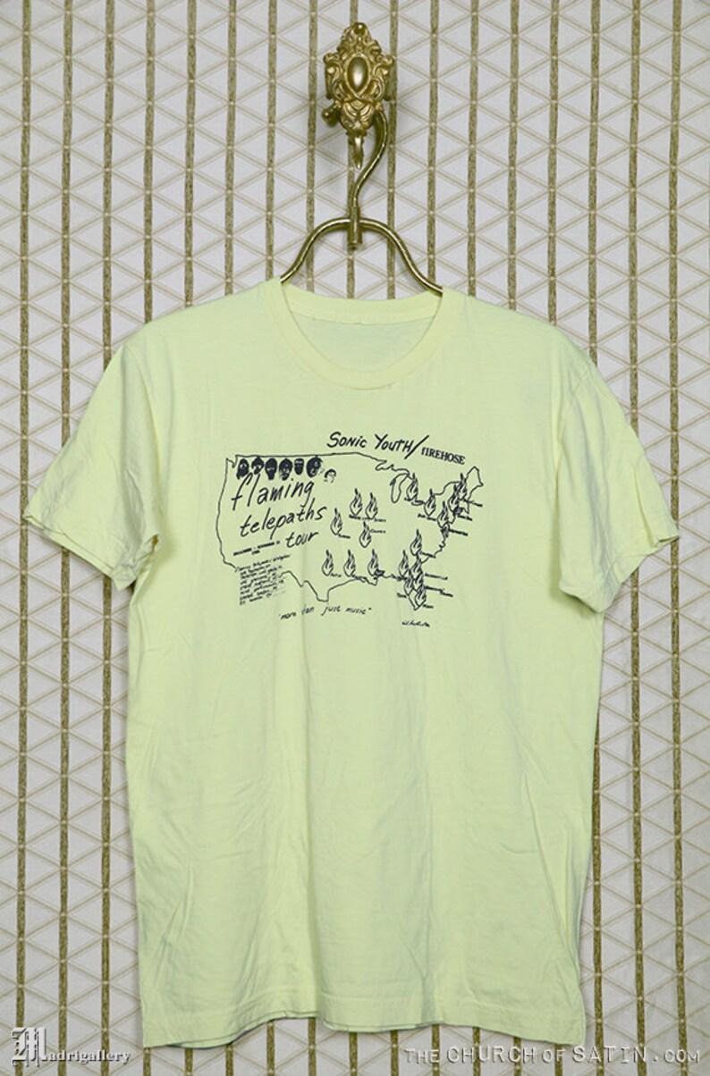 196d3857f Sonic Youth tour t-shirt vintage rare tee shirt Kim Gordon | Etsy