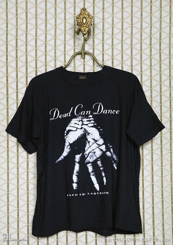 Dead Can Dance t-shirt, vintage rare black tee, 19