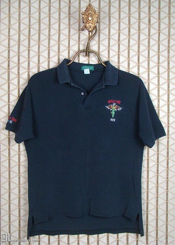 Motley Crue vintage rare crew polo shirt, golf shi