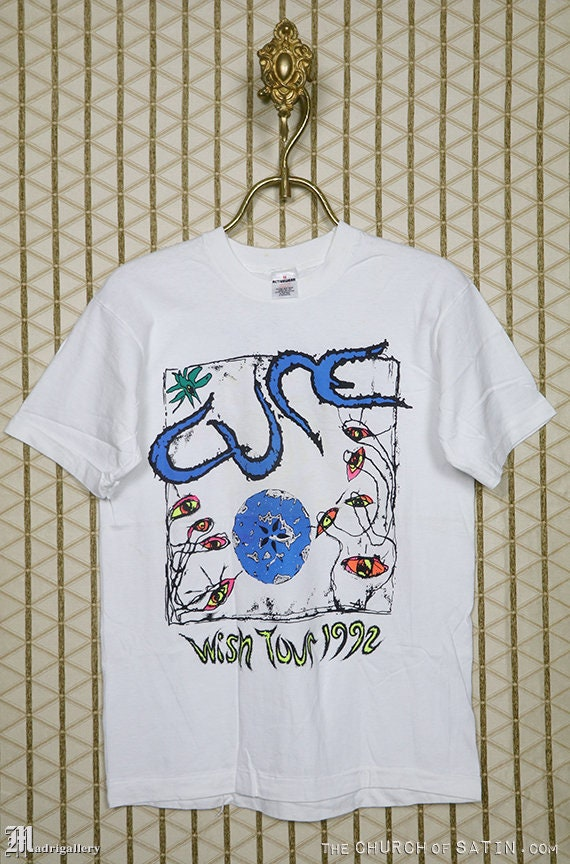 The Cure 1992 Wish Tour shirt, vintage rare T-shir