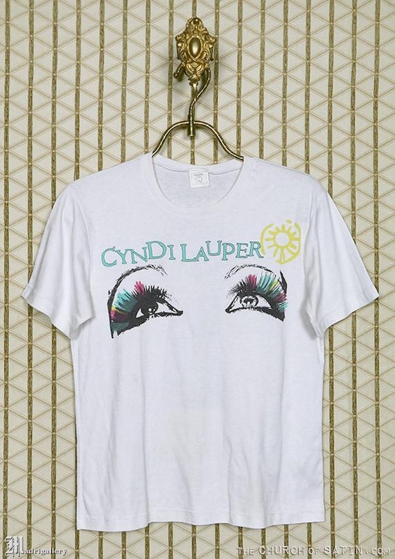 Cyndi Lauper t-shirt, vintage rare white tee shirt