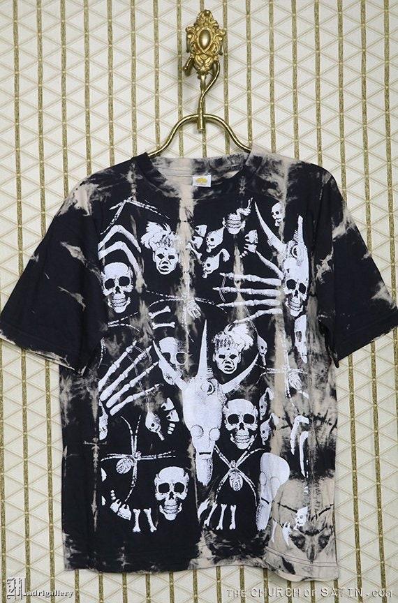 Vitalité T-shirt Horreur serpent crâne fleur sombre gothique mort squelette reape E111