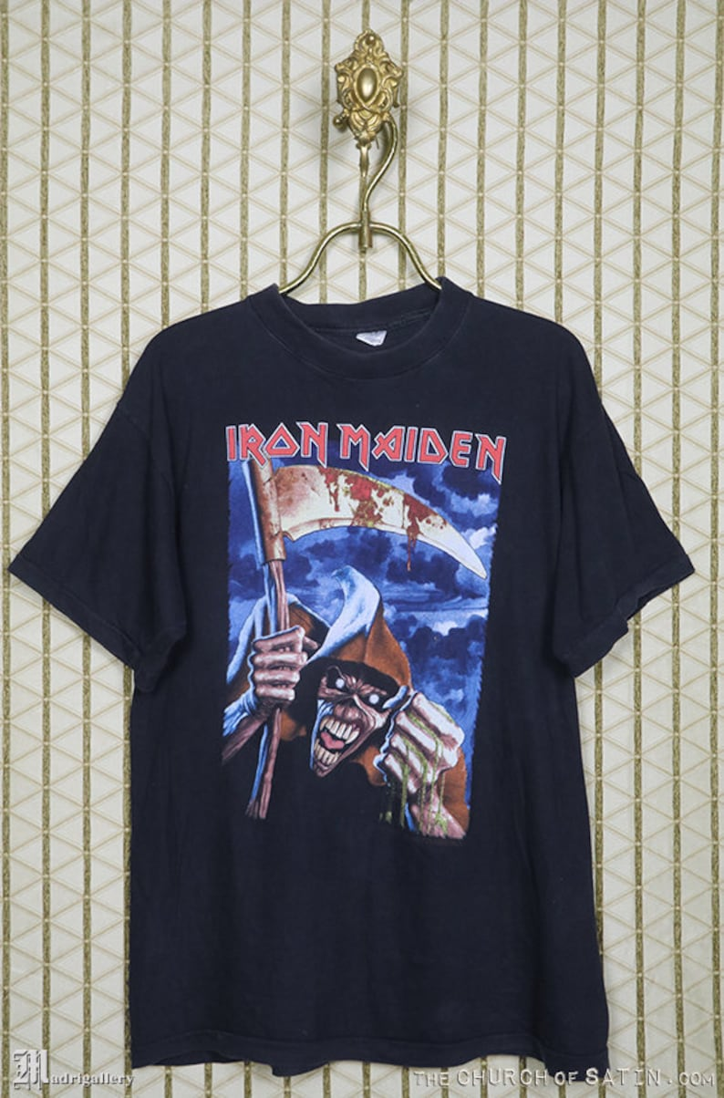 e9e7268c1044 Iron Maiden shirt Year Of The Beast t-shirt vintage rare   Etsy