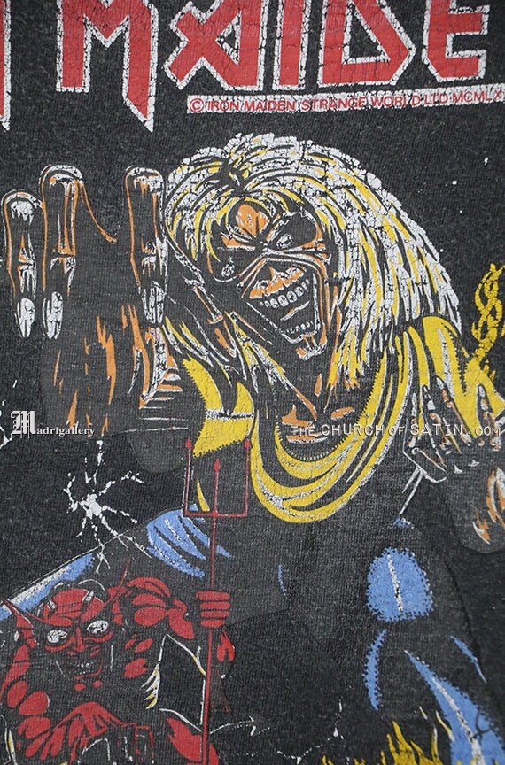 Iron Maiden shirt, 1983 Number Of The Beast t-shi… - image 4