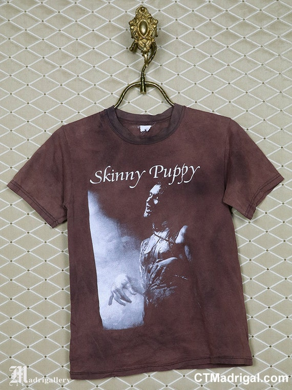 Skinny Puppy t-shirt, vintage rare faded bleached