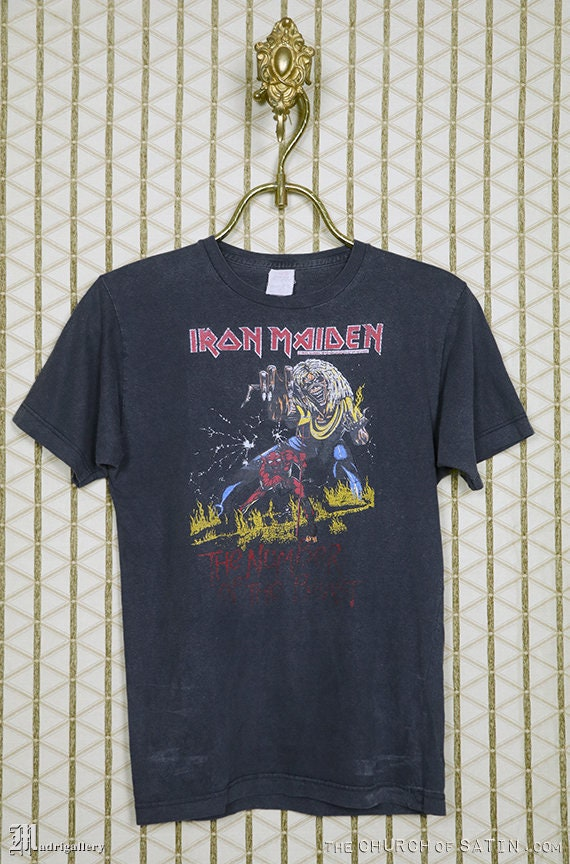 Iron Maiden shirt, 1983 Number Of The Beast t-shi… - image 1