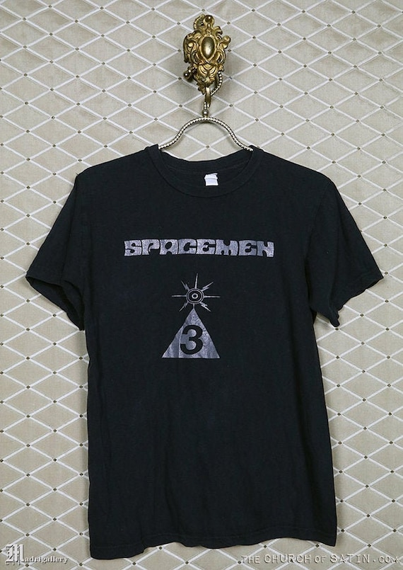 Spacemen 3 t-shirt, vintage rare faded black tee s
