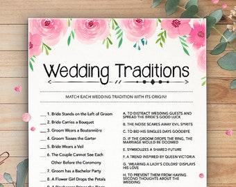 wedding traditions bridal shower games printable wedding shower games instant digital download bachelorette games wedding quiz game