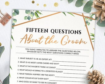 Groom questions | Etsy