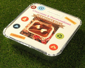 Chocolate And Marshmallow Campfire Kit