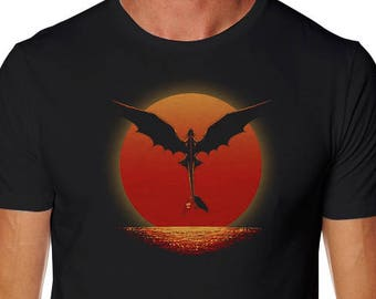 How to train your dragon etsy dragon on sunset t shirt how to train your dragon shirt toothless tee ccuart Image collections