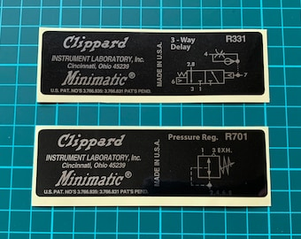 Ghostbusters Clippard Valve Label / Sticker