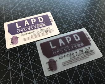 Blade Runner 2049 Officer K's ID Card Prop Replica