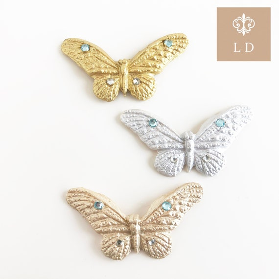 Silver Butterfly Birthday Table Decor Set Of 12