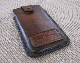 new concept e8ac8 a4282 Leather phone pouch   Etsy