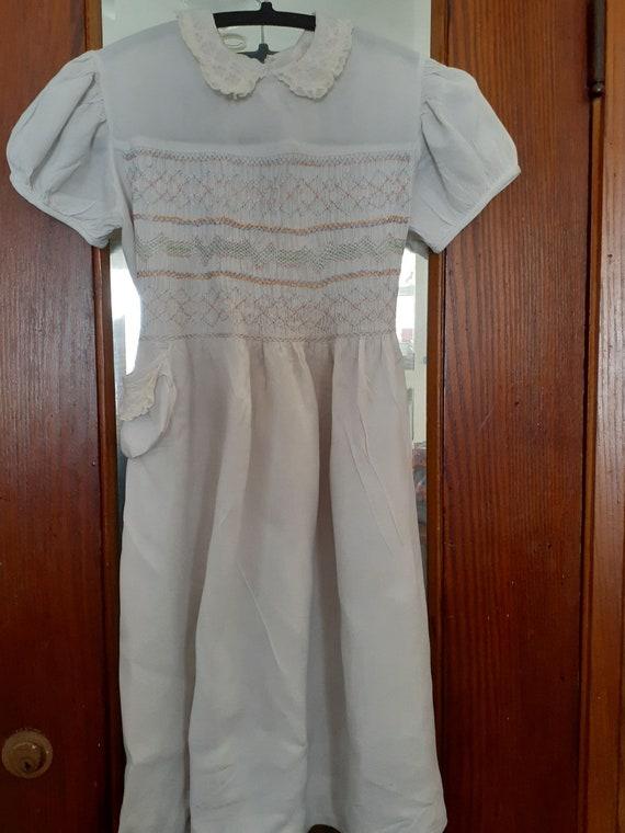 Child's Dress 1930s Smocked