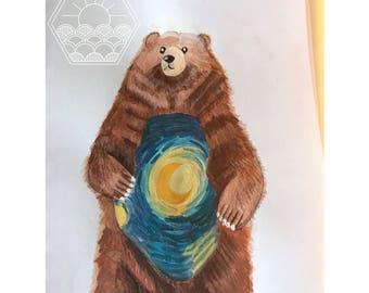Bear on a Starry, Starry, night
