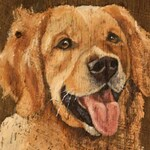 Pet Portrait, hand painted in oil on 100 year old, reclaimed Kentucky barn wood