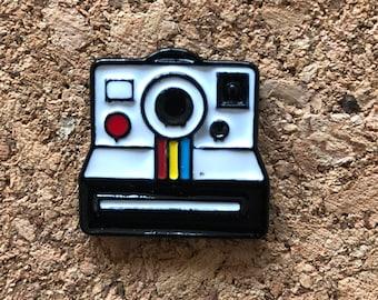 Camera Pin, Polaroid Camera Pins, Retro Pins, Enamel Pin, Lapel Brooch Pin, Lapel Pins, Charms, Photography Pins, Camera Brooch Pins, New
