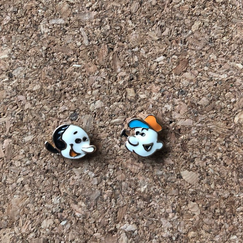 PEA411 Popoye Jewelry Popeye and Olive Oyl Earrings Cartoon Jewelry Cartoon Earrings Stud Earrings