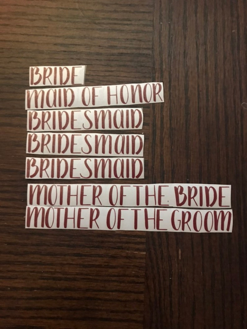 Role and Dates vinyl decal for weddingspecial occasion hangers