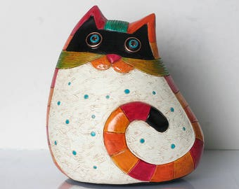 Handmade, Cats, Cat Art, Ceramic Cat Decor, Ceramic Cats, Cat Sculptures, Animal Figurines, Pottery Cats, Clay Cats, Animals
