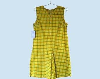 1960s Yellow Shift Dress Size M