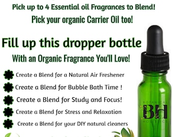 Custom Organic Essential Oil Blends 15ml Have one made just for you! Free Ship!