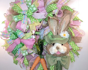 Easter Wreath, Bunny Wreath, Easter Bunny Wreath, Spring Wreath