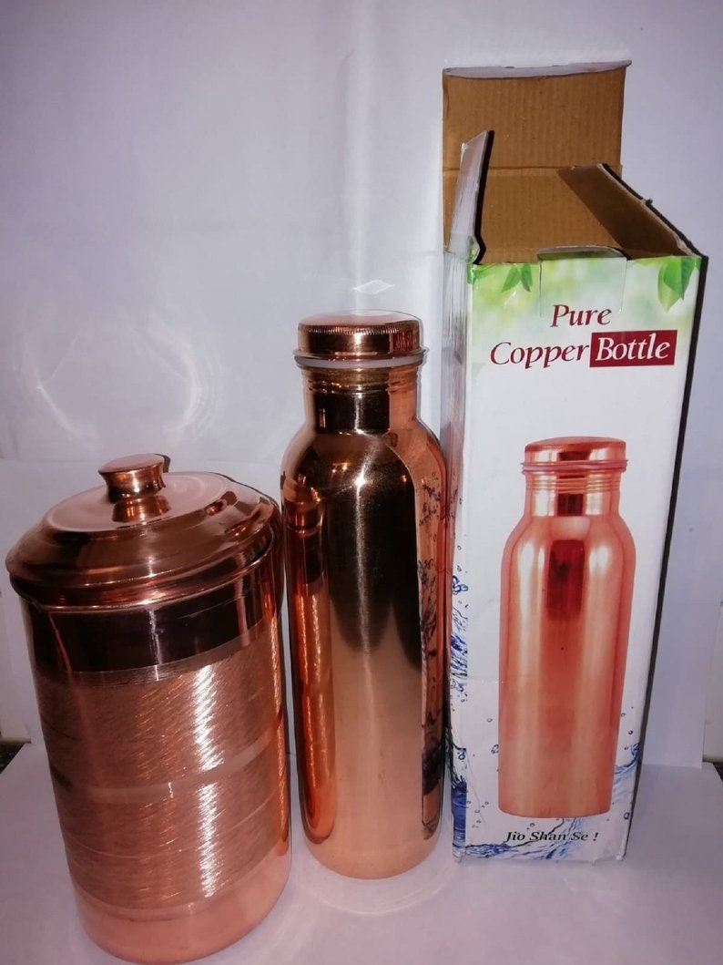 New Pure Copper Unique Design Water Bottle 950 ml Capacity