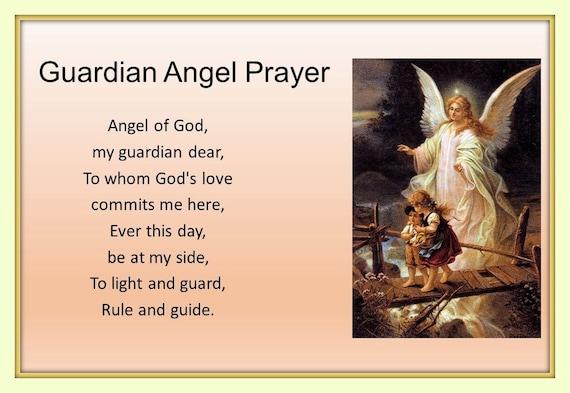 11x14 Guardian Angel Prayer protecting Children on Bridge   Etsy