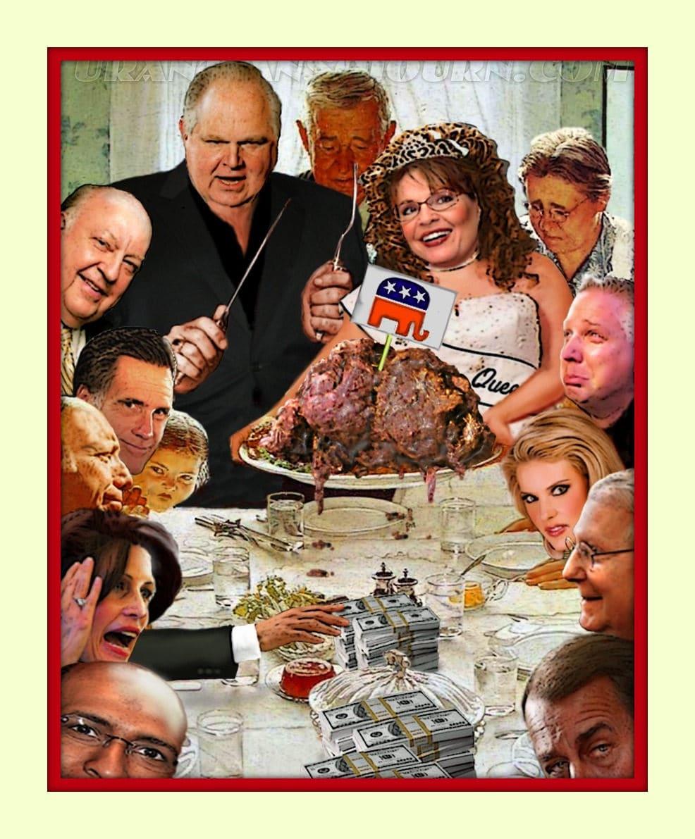Rush Limbaugh Politician Parody Norman Rockwell 11x14 mtd | Etsy