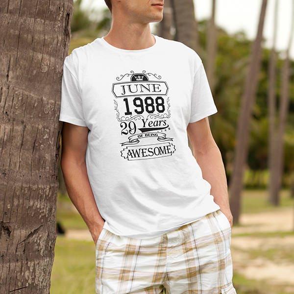 Anniversaire T T-shirt garçon homme chemise T Anniversaire Shirt Tee Shirt 6411e8